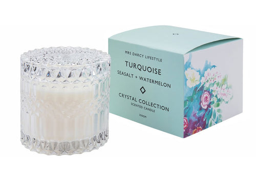 Mrs D Turquoise Candle