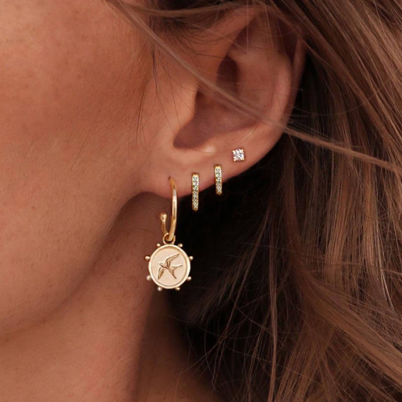 Murkani Freedom Bird Earrings - Gold