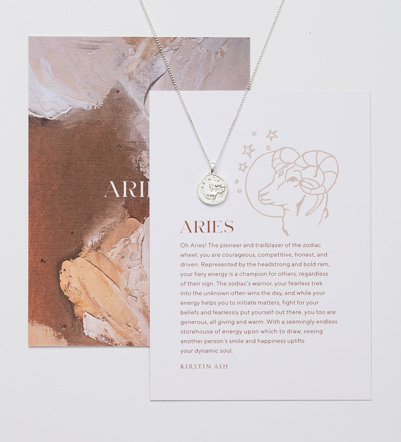 "Aries Necklace 16-18"" STERLING SILVER"
