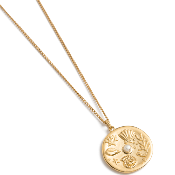 Kirstin Ash By the Sea Coin Necklace 18K GOLD