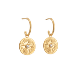 Kristin Ash By the Sea Hoops 18K GOLD PLATED SS