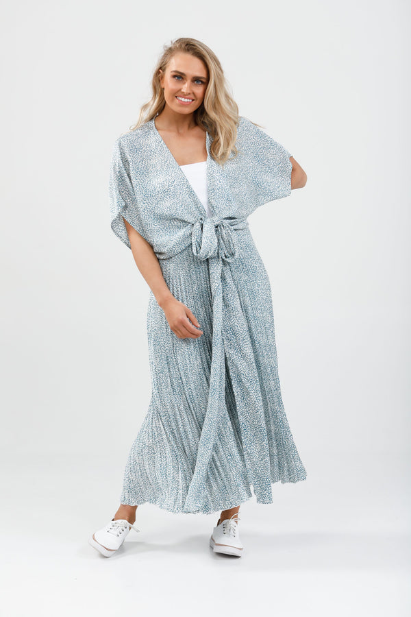 Destiny Wrap Top CLOUD NINE BLUE