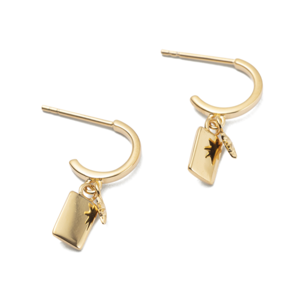 Kirstin Ash Guiding Star Hoops 18K GOLD PLATED