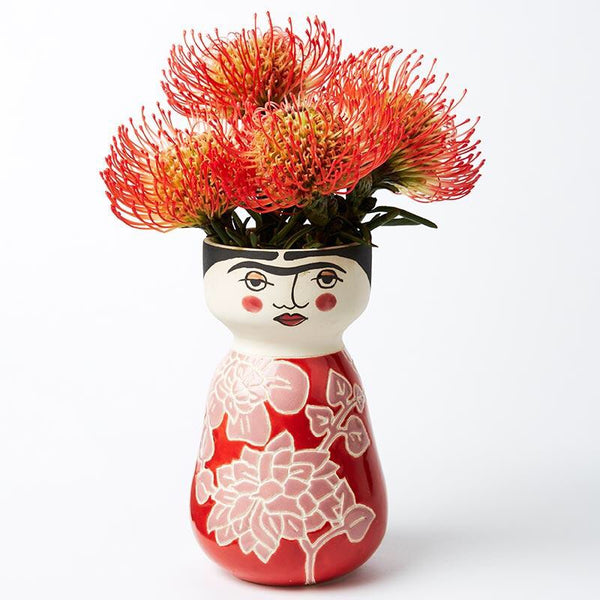 Jones&Co Rosy Frida Face Vase