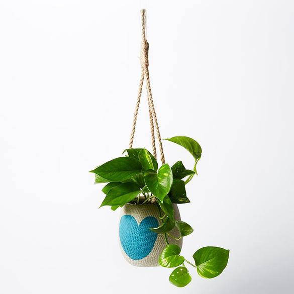 Jones & Co Hanging Heart AQUA