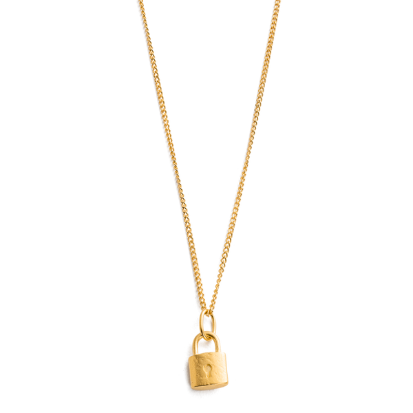 Kirstin Ash Petite Lock Necklace 18K GOLD PLATED