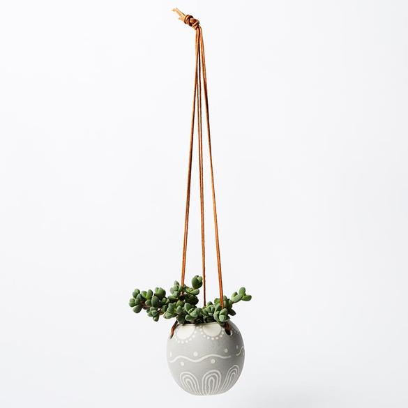 Jones & Co Hanging Planter Grey