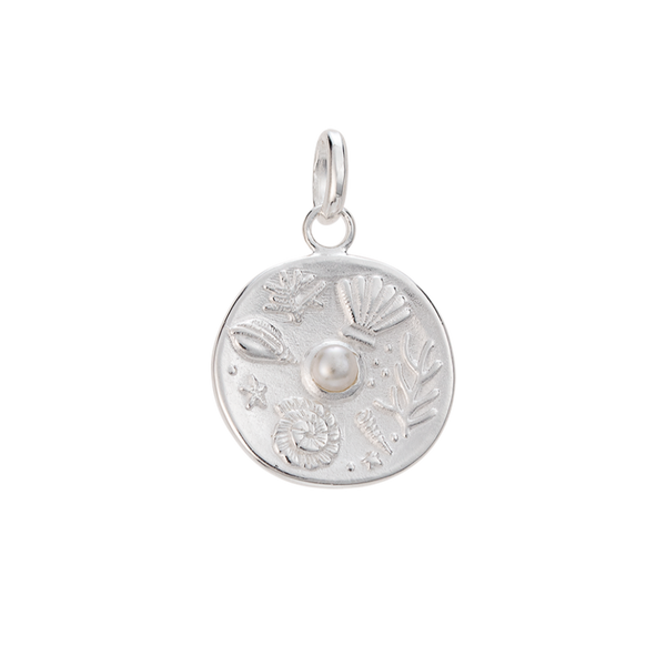 Tiny By the Sea Coin STERLING SILVER