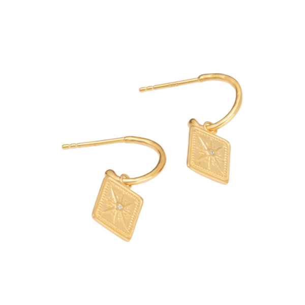 Kirstin Ash True North Hoops 18K GOLD PLATED