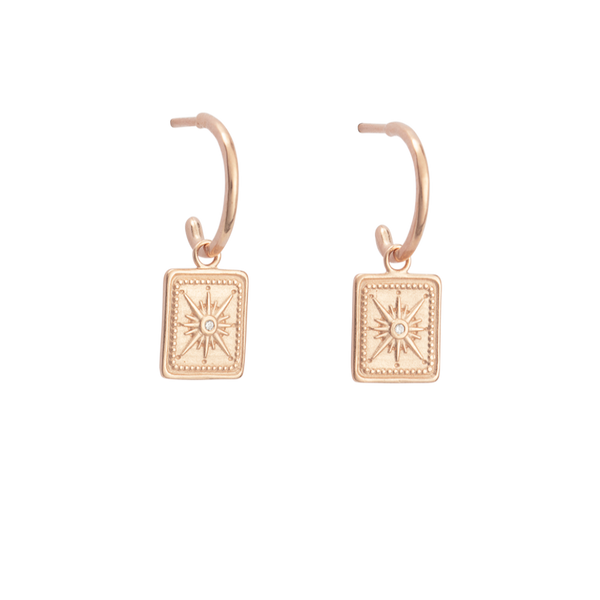 Kirstin Ash True North Hoops 18K ROSE GOLD PLATED