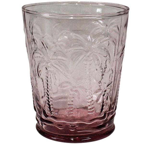 Tumbler Glass PALM PINK