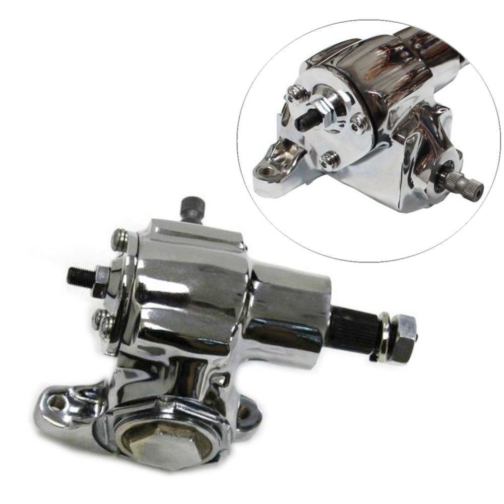 chromed GM Universal Saginaw Vega Manual Power Steering Gearbox Hot Rat Rod