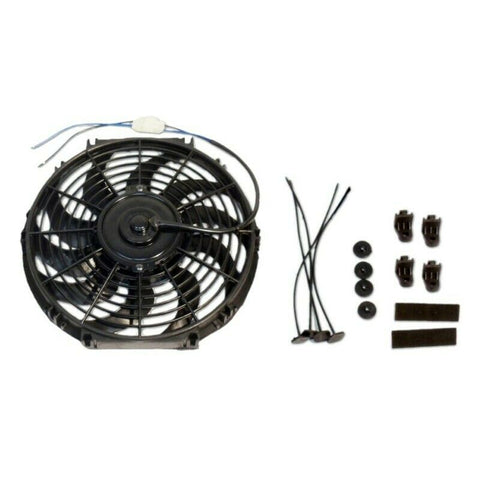 DEMOTOR 16 Inch Electric Radiator S Blade Cooling Fan 12V 3000 CFM with Relay Thermostat Kit