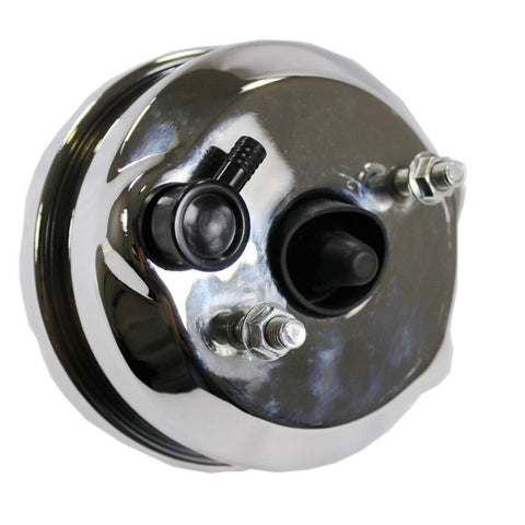 "7"" Single Diaphragm Chrome Power Brake Booster Universal Street Rod for Chevy Ford"