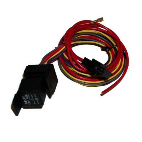 DEMOTOR Cooling Fan Thermostat Relay Kit,Fan Temperature Switch,Temp Sensor,200 Degree