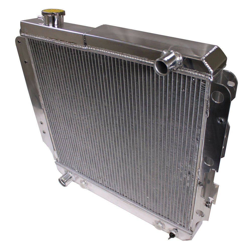 DEMOTOR 3 Row Aluminum Racing Radiator for 87-06 Jeep Wrangler YJ/TJ 2.4L-4.2L