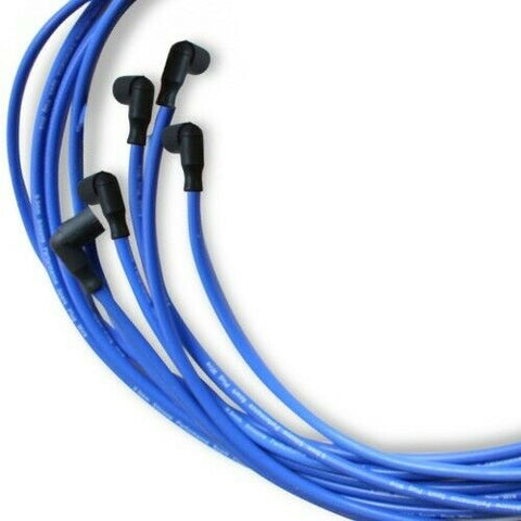 9.5 MM Blue Distributor Spark Plug Wires for Distributor FITS Chevy BBC SBC 302 350 383 454