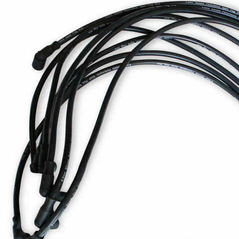 DEMOTOR 9.5 MM Black Straight Spark Plug Wires Distributor HEI for Chevy BBC SBC SBF 302 350