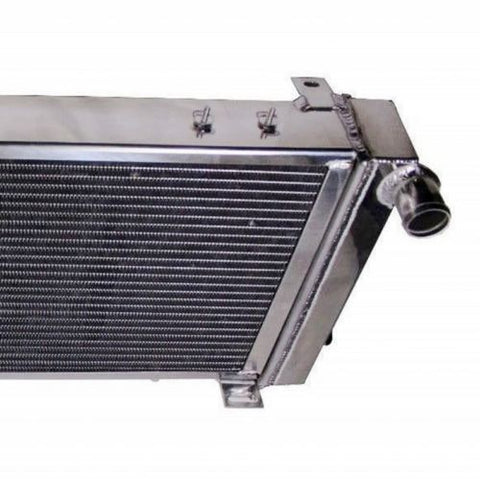 "3-Row Aluminum Racing Radiator &2x10"" Chrome Fans For 91-01 Jeep Cherokee/Comanche"