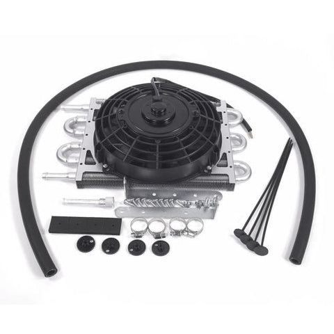 Heavy Duty Transmission Aluminum Oil Cooler with 7'' Electric Fan