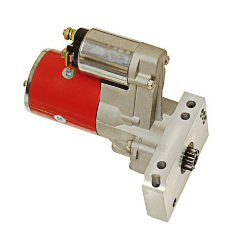 SBC BBC Chevy 2HP Gear Reduction High Torque Mini Starter 153 168 Red Bodied