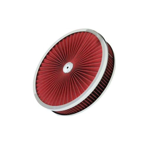 "9""x 3"" Chrome Breather Washable Air Filter Cleaner Reusable Oiled Ford SBC BBC"