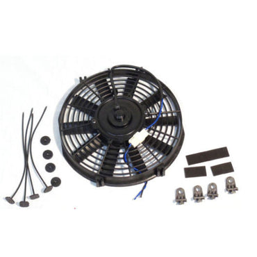 Universal High Performance 12V Slim Electric Cooling Radiator Fan With Fan Mounting Kit (9 Inch, Black)
