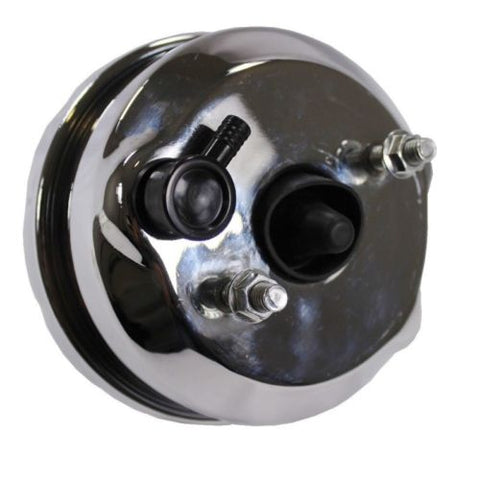"7"" Dual Diaphragm chrome Brake Booster Hot Rod Street and GM Chrome Aluminum Brake Master Cylinder"