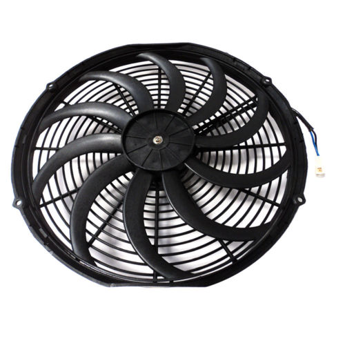 16 Heavy Duty Radiator Electric Wide Curved Blade Fan 3000 CFM Reversible /& Thermostat Kit 200 Degree