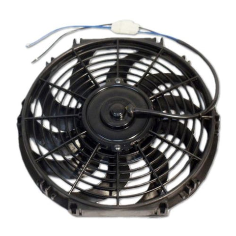 "16"" Electric Curved Blade Reversible Cooling Fan 12v & Thermostat Kit"