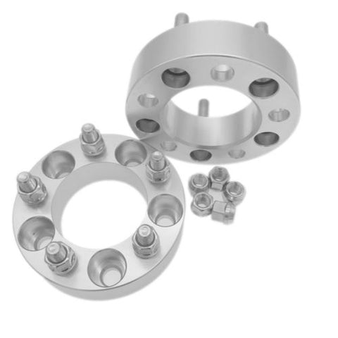 "2pcs 1.25"" Wheel Spacers Adapters 5x5.5 to 5x5.5 9/16"" Studs for Dodge 5x139.7"