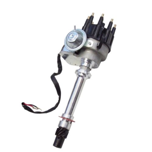 For SBC BBC Chevy HEI Distributor V8 Ready To Go 350 454 & Internal Module,Black Cap