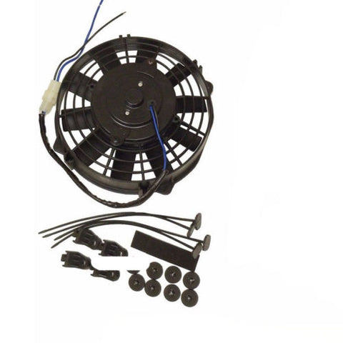 "2 sets 8"" Heavy Duty Staight Blade Electric Radator Fan 12v Thermostat Kit"