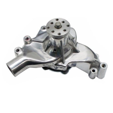 BBC Big Block Chevy Chrome Long Water Pump High Volume LWP & BBC Long Water Pump Top Bracket