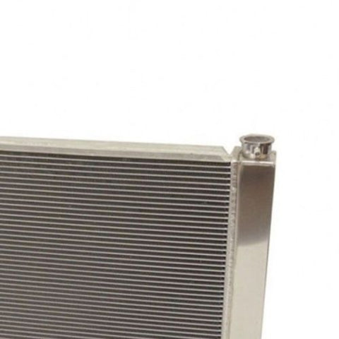 "For SBC BBC Chevy GM Fabricated Aluminum Radiator 22"" x 19"" x3"" Overall & Chrome 16"" Radiator Cooling Fan"