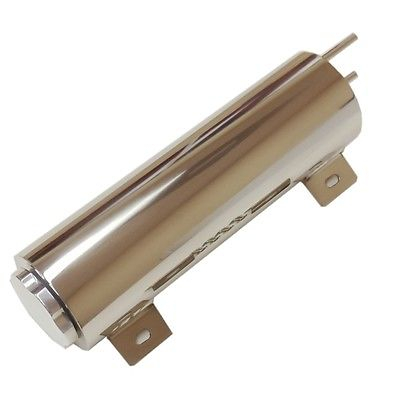 "3""X 10"" Inch Stainless Radiator Overflow Tank Universal Fit."
