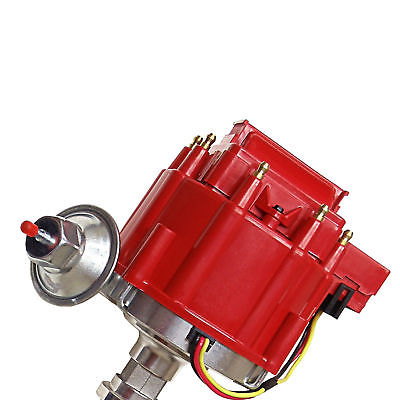 Chevy V8 Red Cap Complete HEI Distributor 50k Volt Ignition Coil 305 350 454 SBC BBC