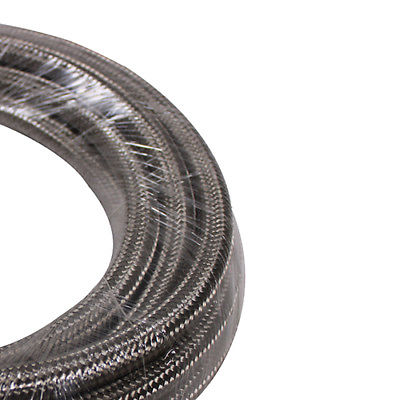 5 Feet Stainless Steel Braided 1500 PSI -8AN AN8 8-AN Oil Fuel Gas Hose Line