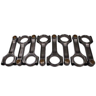 "I Beam Race 6.250"" 2.100"" .927"" Bronze Bush 4340 Connecting Rods Chevy SBC 350"