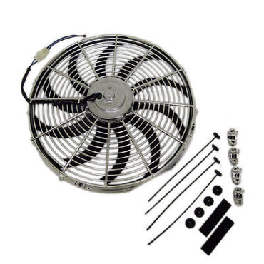 "Universal 16"" Heavy Duty Radiator Electric Fan 2500 CFM Reversible SBC BBC 350"