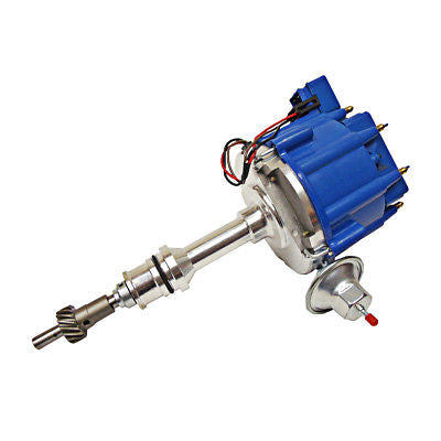 For SBF Ford 260 289 302 V8 Coil Hei Distributor 50000 50K Volt w/ Blue Cap
