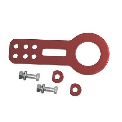 Billet Aluminum Racing Front Tow Towing Hook Kit CNC Paint Red