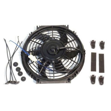 "10"" Electric Curved Blade Reversible radiator Cooling Fans with Thermostat Kit"