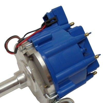 For BBF Ford 351C 429 460 V8 Coil Hei Distributor 50,000 50k Volt w/ Blue Cap