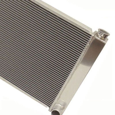 "Fabricated Aluminum Radiator 31"" x 19"" x3"" Overall For SBC BBC Chevy GM W/ 16 Inch Electric Fan"
