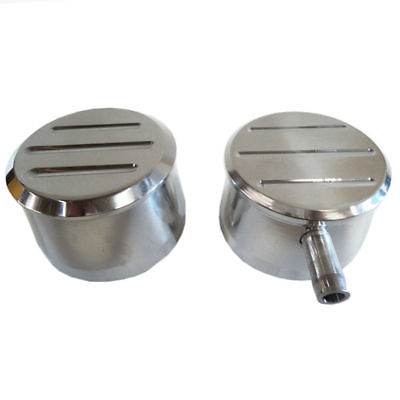 ROUND POLISHED ALUMINUM MILLED VALVE COVER PCV & BREATHER COMBO