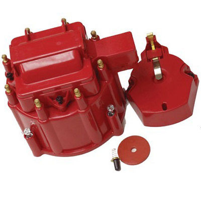 HEI Distributor Red Cap For SBC BBC Chevy HEI V8 50K 65K Distributor