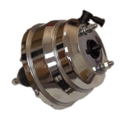 "8"" Dual Universal Chrome Brake Booster and GM Chrome Aluminum Brake Master"
