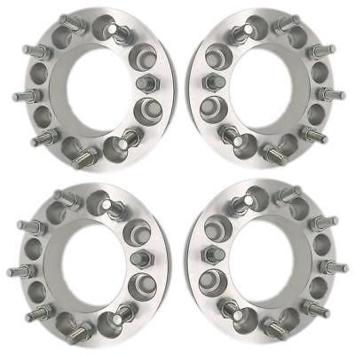 "4Pcs 1"" Wheel Spacers Adapters 8X6.5 To 8X6.5 9/16 Studs 25mm Dodge Ford"