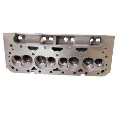 1 Pair Aluminum Bare Cylinder Head For SB Chevy 350 200cc 64cc Straight Spark Plug